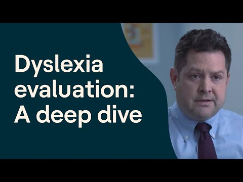 An Inside Look at a Dyslexia Evaluation