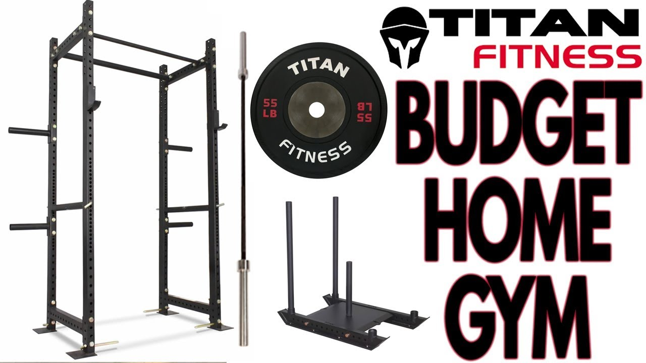 Budget titan fitness home gym build youtube