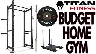 Budget Titan Fitness Home Gym Build!