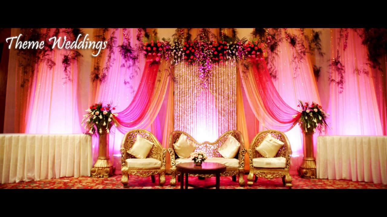 Wedding Stage Design and Marriage Design - YouTube