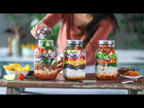 Meals in a jar » vegan meal prep
