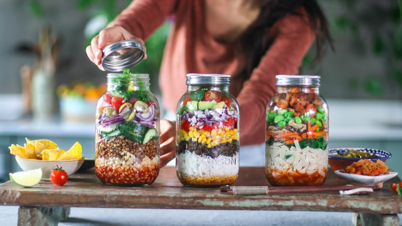 Meals in a jar » vegan meal prep
