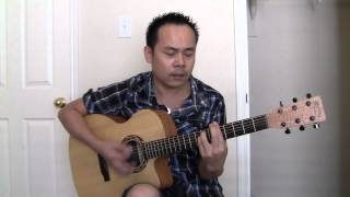 hoa cai mai toc guitar (cover)
