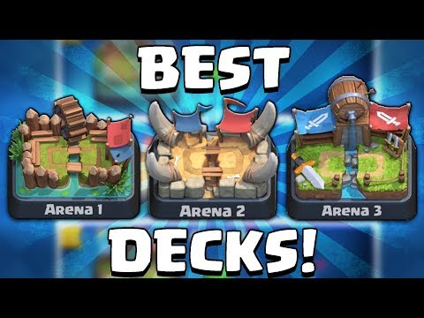 BEST DECKS FOR ARENA 1, 2 & 3!   Clash Royale   NEW ARENA CHALLENGE! EASY DECKS THAT WIN!