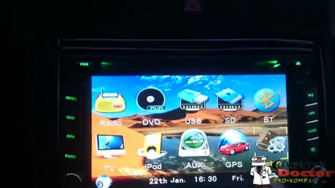HD Double 2DIN Car Stereo DVD Player Bluetooth iPod MP3 TV+Camera ...