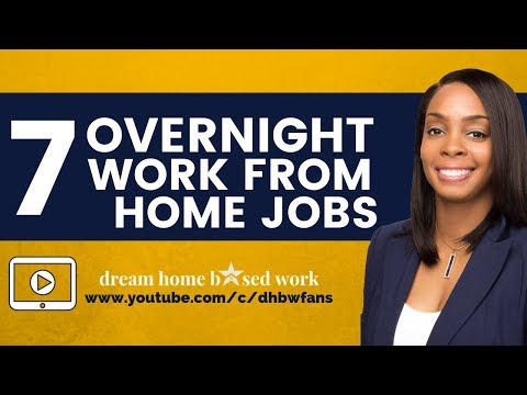 7 Overnight Work from Home Jobs. Make Up To $20/hr Online, Scam Free!