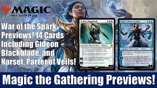 MTG War of the Spark Previews: 14 Cards Including Gideon Blackblade and Narset, Parter of Veils