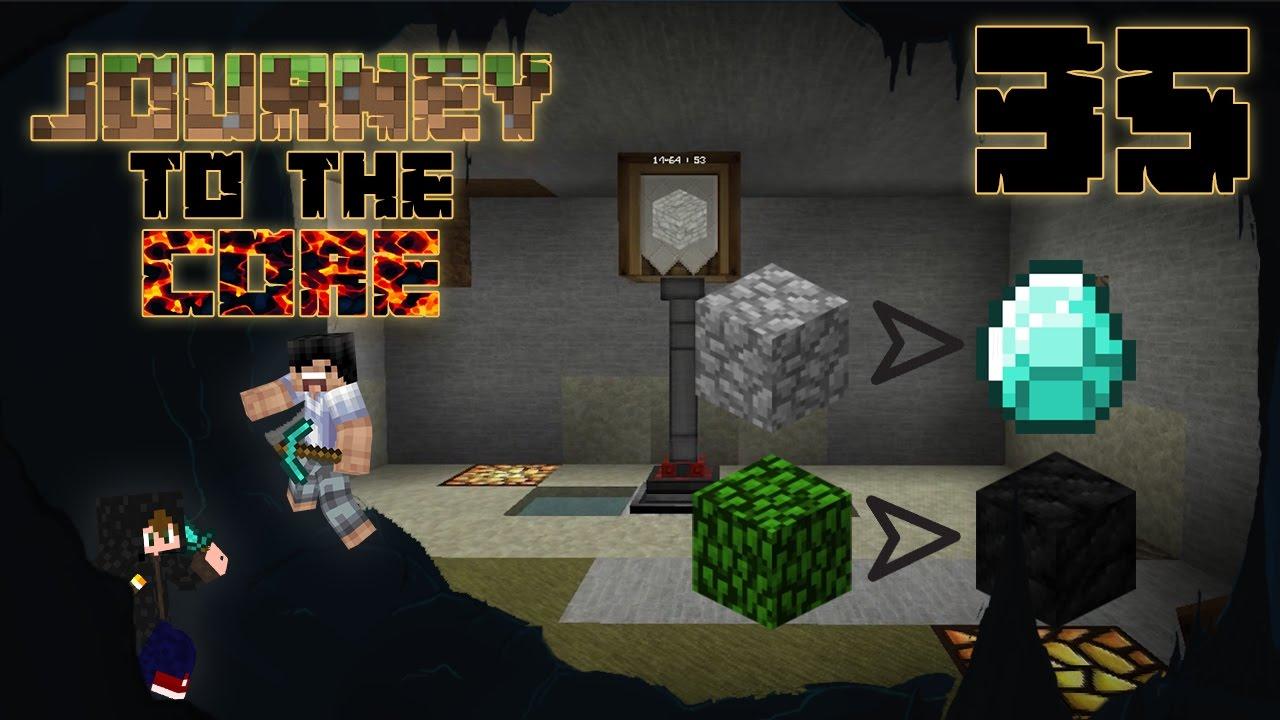 【Minecraft】Journey to the Core 地心探險 模組生存 #35 - 石頭變鑽石!樹葉變煤磚!離開有希望? - YouTube