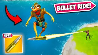 *SUPER RARE* RIDING A SNIPER BULLET!! - Fortnite Funny Fails and WTF Moments! #995