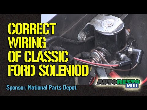 1964 to 1970 Ford Solenoid Wiring Episode 245 Autorestomod - YouTube | Ford Starter Wiring |  | YouTube