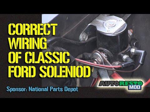 1964 to 1970 Ford Solenoid Wiring Episode 245 Autorestomod  YouTube