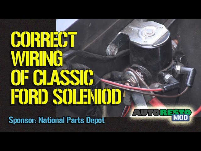 1964 to 1970 ford solenoid wiring episode 245 autorestomod - youtube  youtube
