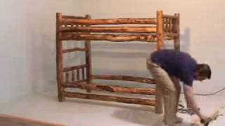 How To Assemble Rustic Log Bunk Bed