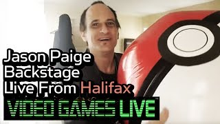 "Jason Paige Backstage Live From Halifax "" Games Live"" Pokemon Q&A"