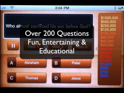 Make Me A Bible Millionaire the iPhone App Educational Trivia Game Demo