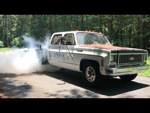 Finnegan's Garage Ep.51: The Ramp Truck Cummins Swap Part 2…Burnouts!