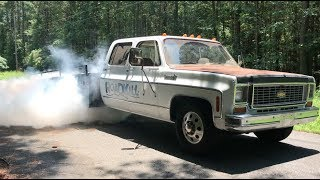 Finnegan's Garage Ep.51: The Ramp Truck Cummins Swap Part 2…Burnouts!