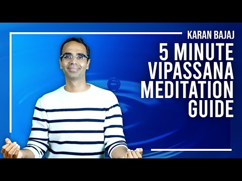 How to Practice Vipassana Meditation in 5 minutes