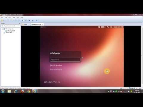 How to Install Ubuntu 13.04 Desktop in VMware [ Narration]