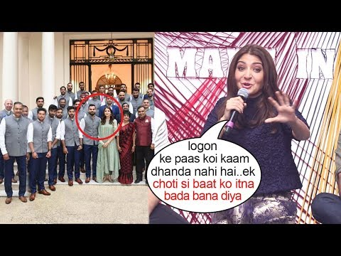 Anushka Sharma Makes FUN Of Controversy Standing Next To Virat Kohli In Indian Cricket Team Photo