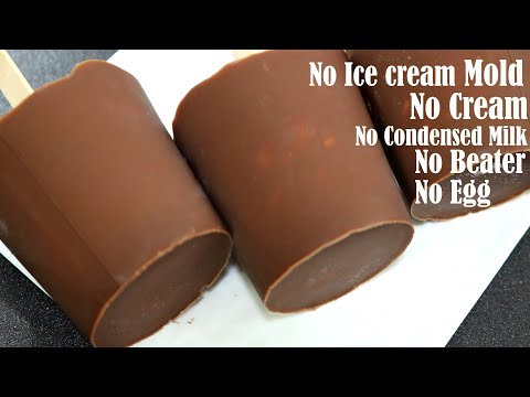 BUTTERSCOTCH CHOCO BAR ICE CREAM RECIPE – NO EGG, CREAM – WITHOUT CONDENSED MILK AND ICE CREAM MAKER