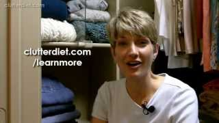 How To Keep Your Closet Looking Neater & More Organized | Clutter Video Tip
