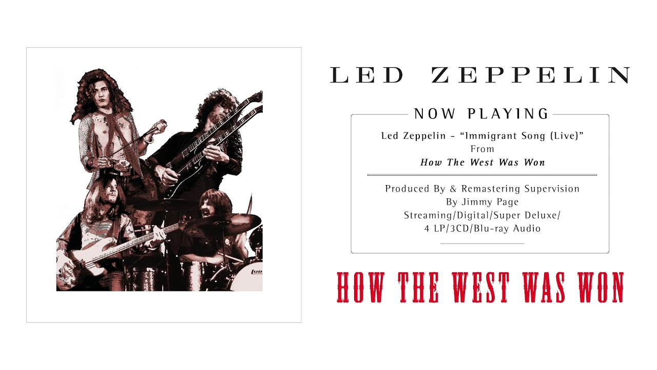 Led Zeppelin Immigrant Song Live Official Audio