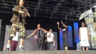 Freestyle on stage 2014 HD - Les Twins, Salah, Fabreezy, P Lock, Swan, Kris
