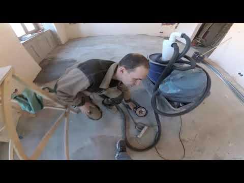 Шлифуем бетон. Промышленный пылесос из бытового с помощью циклона.