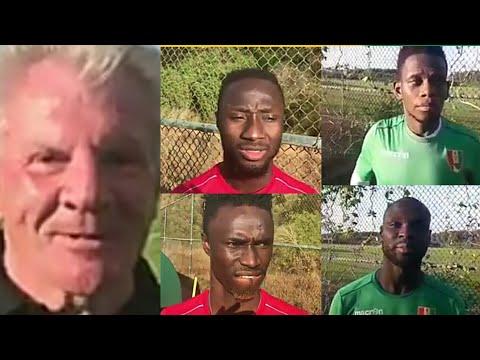 Interviews de quelques joueurs du Syli sur le stage de préparation de l'équipe à El Jadida.