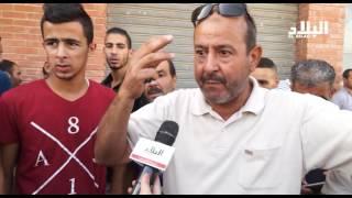 الرويبة : مشادات عنيفة بين سكان حي مواتسة و المرحلين الجدد  -elbiladtv-