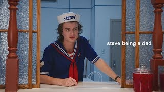 steve harrington being a dad.