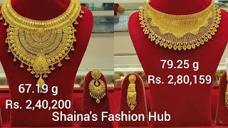 Latest Designer  BRIDAL Gold Necklaces design with weight and price
