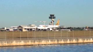 Tiger Airways A320 takeoff from Sydney