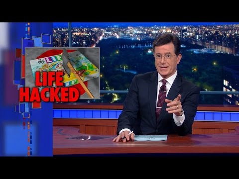 Stephen Colbert's life hacks