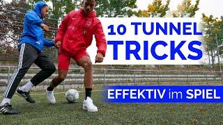 Die 10 besten Tunnel Tricks! (für´s Spiel) - Panna Fußball Tricks