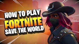Fortnite Save the World GUIDE for NEW PLAYERS GETTING STARTED | Beginner Tips and Tricks
