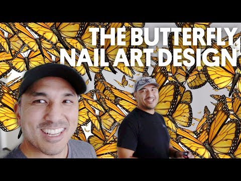 THE BUTTERFLY NAIL ART DESIGN (CAPTION POLISH & MISSION CONTROL) - VLOG 60