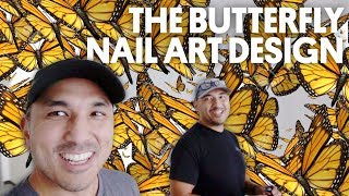 the butterfly nail art design caption polish mission control vlog 60