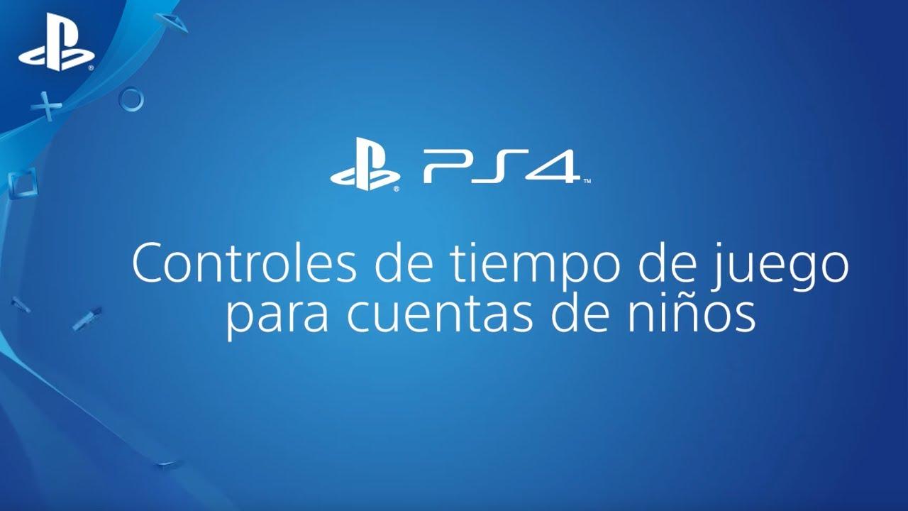 ¿Cómo utilizar los controles del tiempo de juego en PS4? | PlayStation España