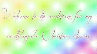 Download Hindi Video Songs - Feliz Navidad Chorus - Auditions [CLOSED]