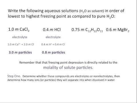 Freezing Point Depression - Chemistry Tutorial
