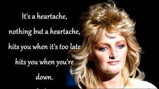 It's a Heartache   BONNIE TYLER (with lyrics)