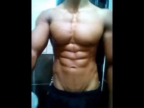 Pre-Competition #1 - Young HERCULES Posing Massive Chest Pecs, Ripped Abs #Flexing