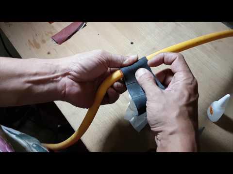 CARA sederhana menambal/menutup kebocoran selang kompresor angin atau gas.  #v36#