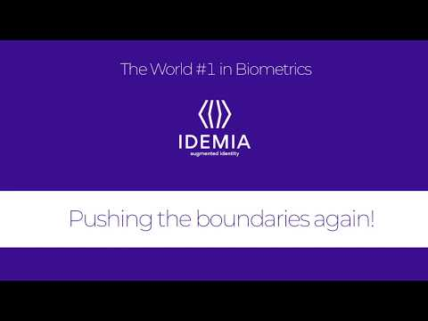 IDEMIA GSX 2019 Pushing the boundaries again