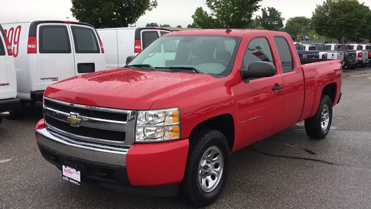 pre owned 2008 chevrolet silverado 1500 4wd ls 4 8l v8 short box extended cab youtube. Black Bedroom Furniture Sets. Home Design Ideas