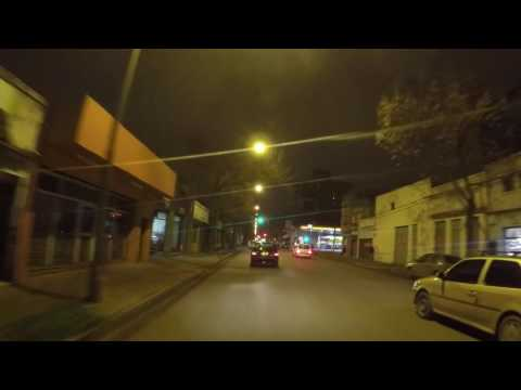 Argentine Rosario Centre ville de nuit, Gopro / Argentina Rosario City center by night, Gopro