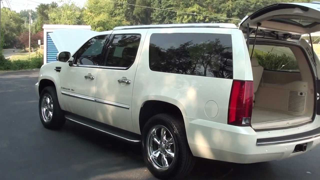 for sale 2007 cadillac escalade esv 2 3 rd row ent stk 110020s youtube. Black Bedroom Furniture Sets. Home Design Ideas