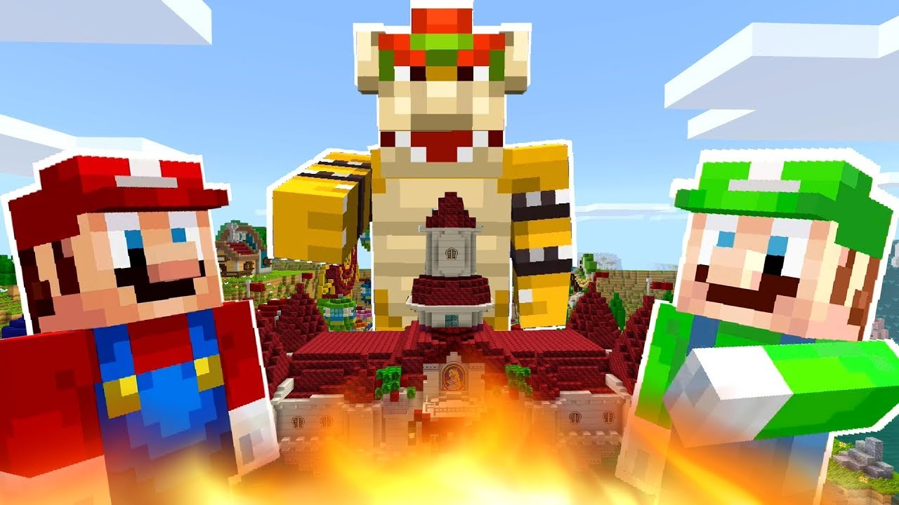 Mario Minecraft - Bowser Is King Of Mushroom Kingdom! [15]